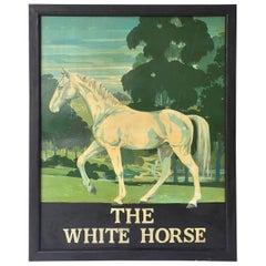 "English Pub Sign ""The White Horse"""