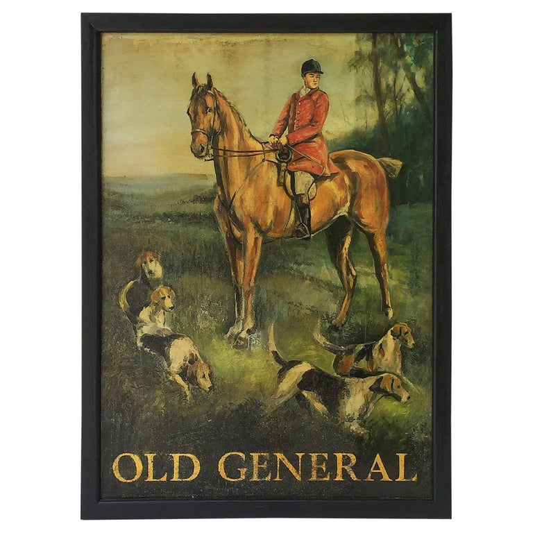 "English Pub Sign, ""Old General"" For Sale"