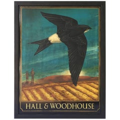 English Pub Sign, Hall & Woodhouse 'Swallow'