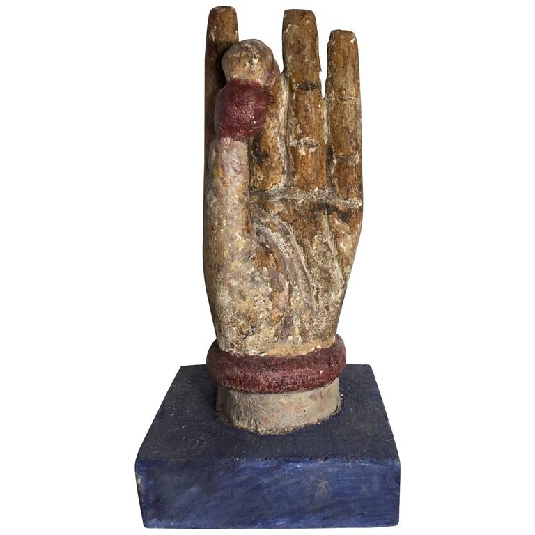 Chinese Wood Carving Of Buddha Hand For Sale At 1stdibs
