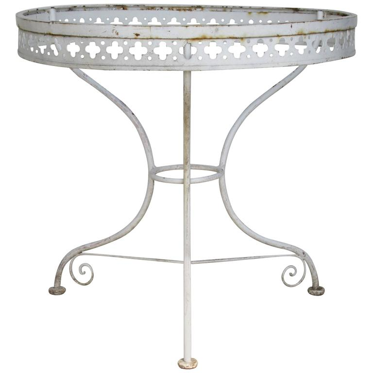 High Style Wrought Iron Table