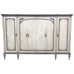 French Antique Armoire with Original Paint