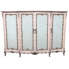Rare French, Antique Original Paint Armoire