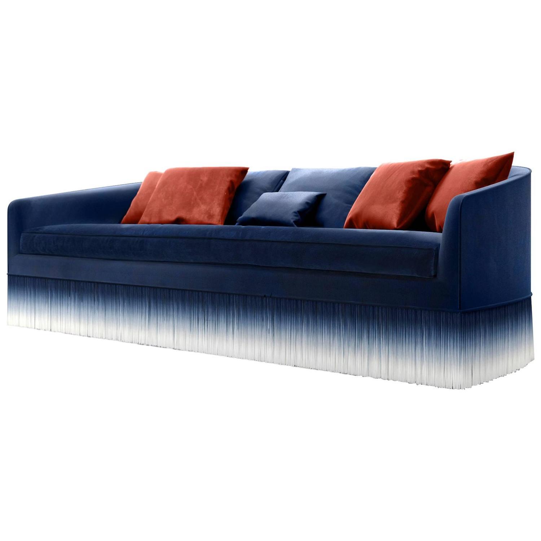 Dark Blue Sofa Longchamp Glamour by Fendi Casa For Sale at 1stdibs