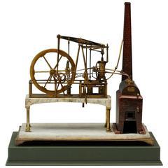 Superb Early 19th Century Model Watt Steam Engine
