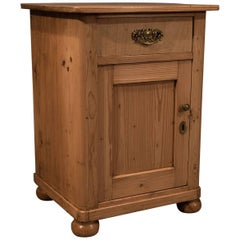 Compact Cabinet or Bedside Cupboard, Victorian Pine, circa 1900