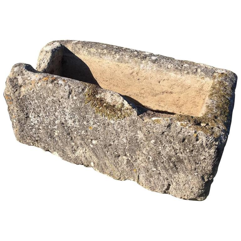 Large French Limestone Trough For Sale