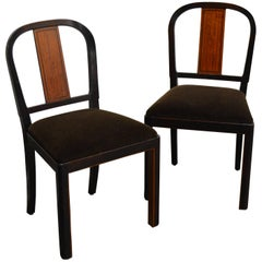 Pair of Carl Malmsten Swedish Grace Inlaid Side Chairs