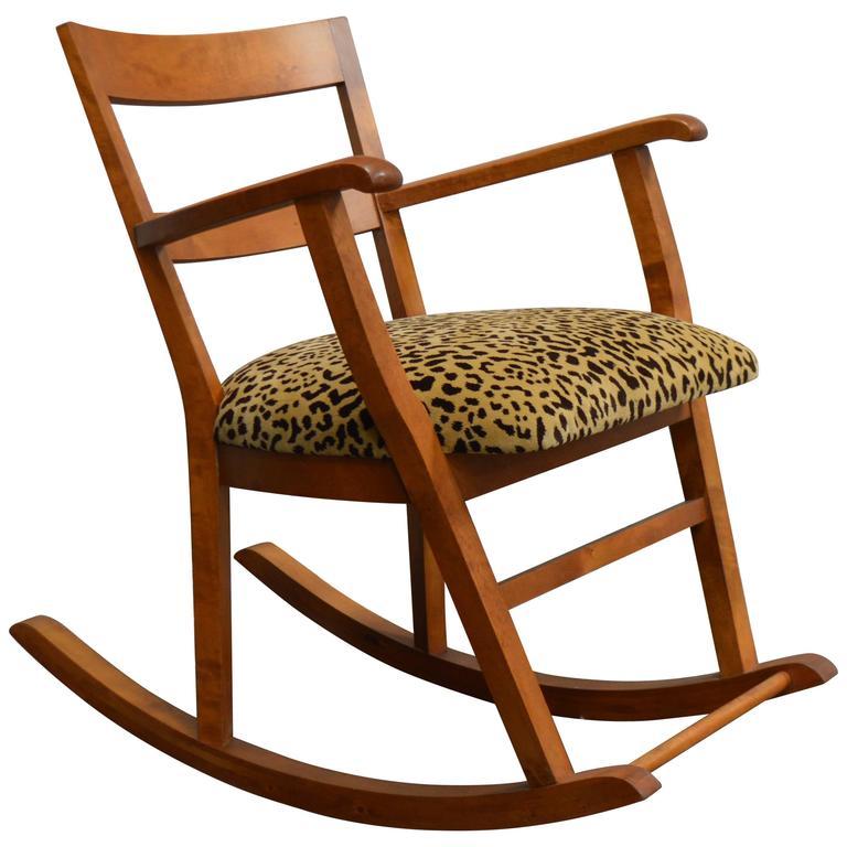 Swedish Art Moderne Rocking Chair For Sale at 1stdibs