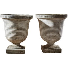 Mid-Century Ribbed Planters