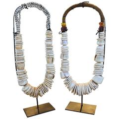 Tribal Shell Necklaces on Stand