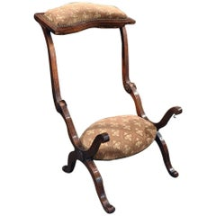 "19th Century French Carved Walnut Metamorphic Prayer Chair or ""Prie-Dieu"""