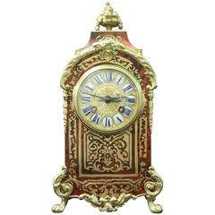 French 19th Century Boulle Mantel Clock