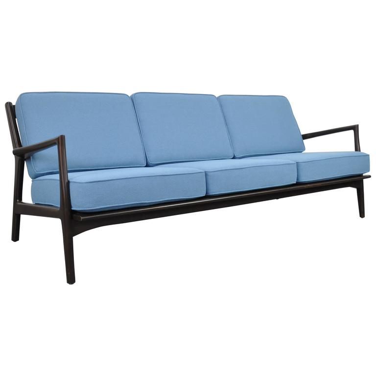 Rare ib kofod larsen for selig extra long sofa for sale at for Long couches for sale