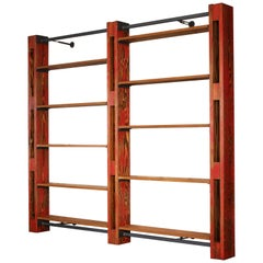 Shelving Storage Expandable Modular Custom Bookcase System Wood & Metal