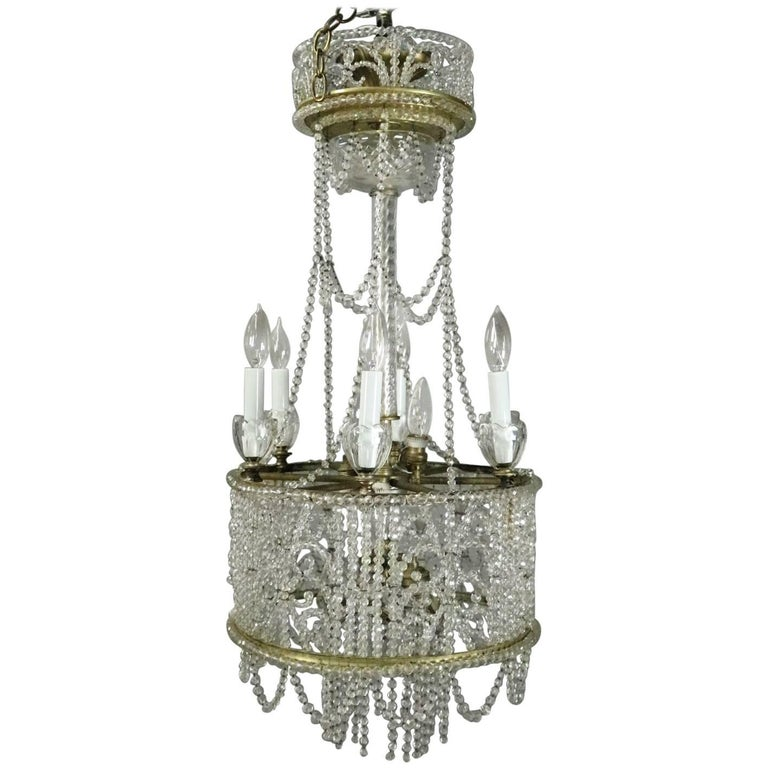 Antique French Art Nouveau Crystal Bead Wedding Cake Style