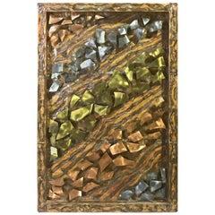 """""""Meltdown"""" Joseph E. Farris, 1988 Mixed Metal Wall Sculpture"""