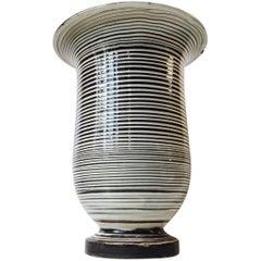 Danish Striped Ceramic Floor Vase by Herman August KäHler, 1920s