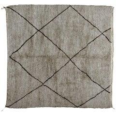 Square Moroccan Berber Rug