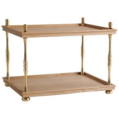 Nickey Kehoe Collection Turned Brass Side Table