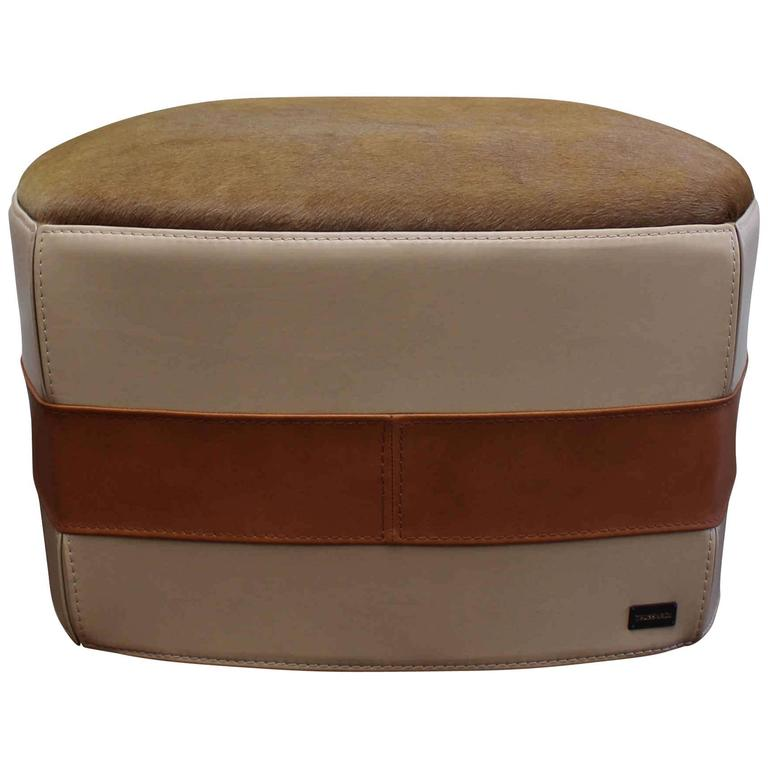 henry beguelin casablanca pouf in green cowhide at 1stdibs. Black Bedroom Furniture Sets. Home Design Ideas