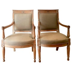 Pair of French Directoire Period Fauteuils