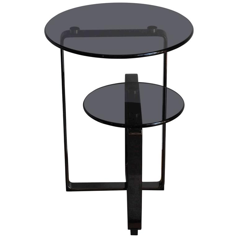 Fendi Casa Coffee Table Columbus, Temperglass and Stainless Steel