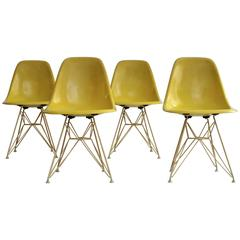 Set of Four DSR Chairs by Charles & Ray Eames, 1960
