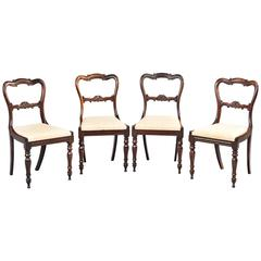 Set of Four Early Victorian Period Single Chairs