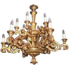 19th Century Carved Giltwood Chandelier