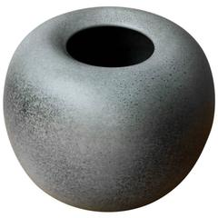 Kasper Würtz One off Bulbous Mottled Light Grey Glaze