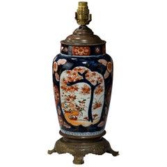 Single Japanese Imari Ovoid Lamp