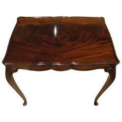 Hepplewhite Designed Mahogany Edwardian Period Antique Silver Table