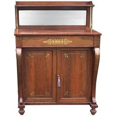 Regency Rosewod and Brass Inlaid Chiffonier