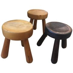 Three Ingvar Hildingsson Stools