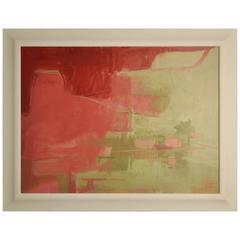 Janet Keith's Abstract 'Ruby Night' Painting