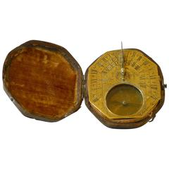 Octagonal Horizontal Sundial, 18th Century