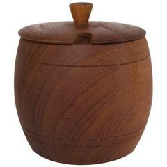 Swedish Teak Jar with Lid and Inner Cup by Ståko Stålkompaniet, 1960s-1970s