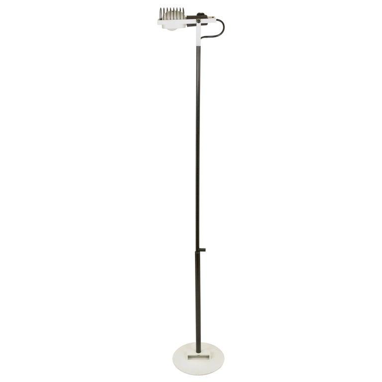White Sintesi Floor Lamp by Ernesto Gismondi for Artemide, 1970s
