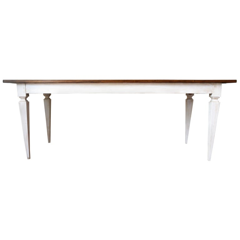 20th French Painted Dining Farm Table