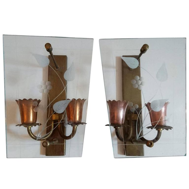 Pair of Wall Sconces in the Manner of Pietro Chiesa
