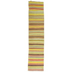 Vintage Kilim Colorful Runner