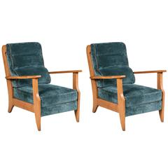 French 1930s Oak Armchairs