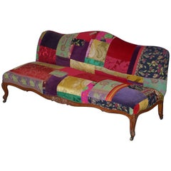 Rare Lisa Whatmough for Liberty London Victorian 1860 Satinwood Patchwork Sofa