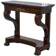 Restored Original Stamped James Winter & Sons circa 1840 Mahogany Console Table
