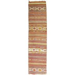 Vintage Turkish Tribal Kilim Runner