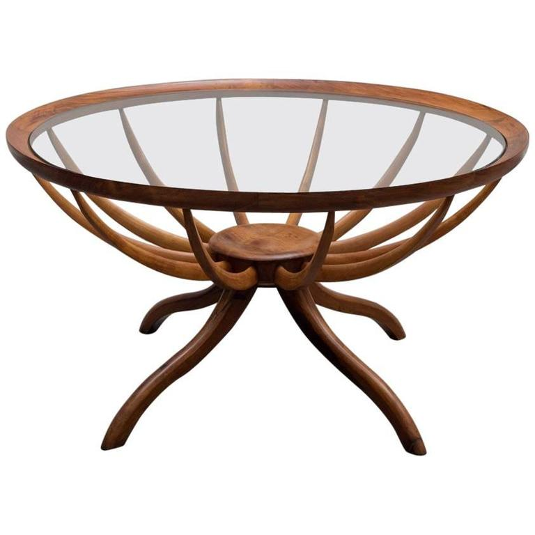 Vintage Aranha Coffee Table by Giuseppe Scapinelli 1