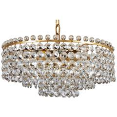 Beautiful Cut Crystal Chandelier by J.L. Lobmeyr
