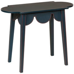 Small D-End Table