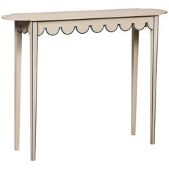 Large D-End Table